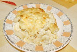 Макаронная запеканка в духовке с яйцами