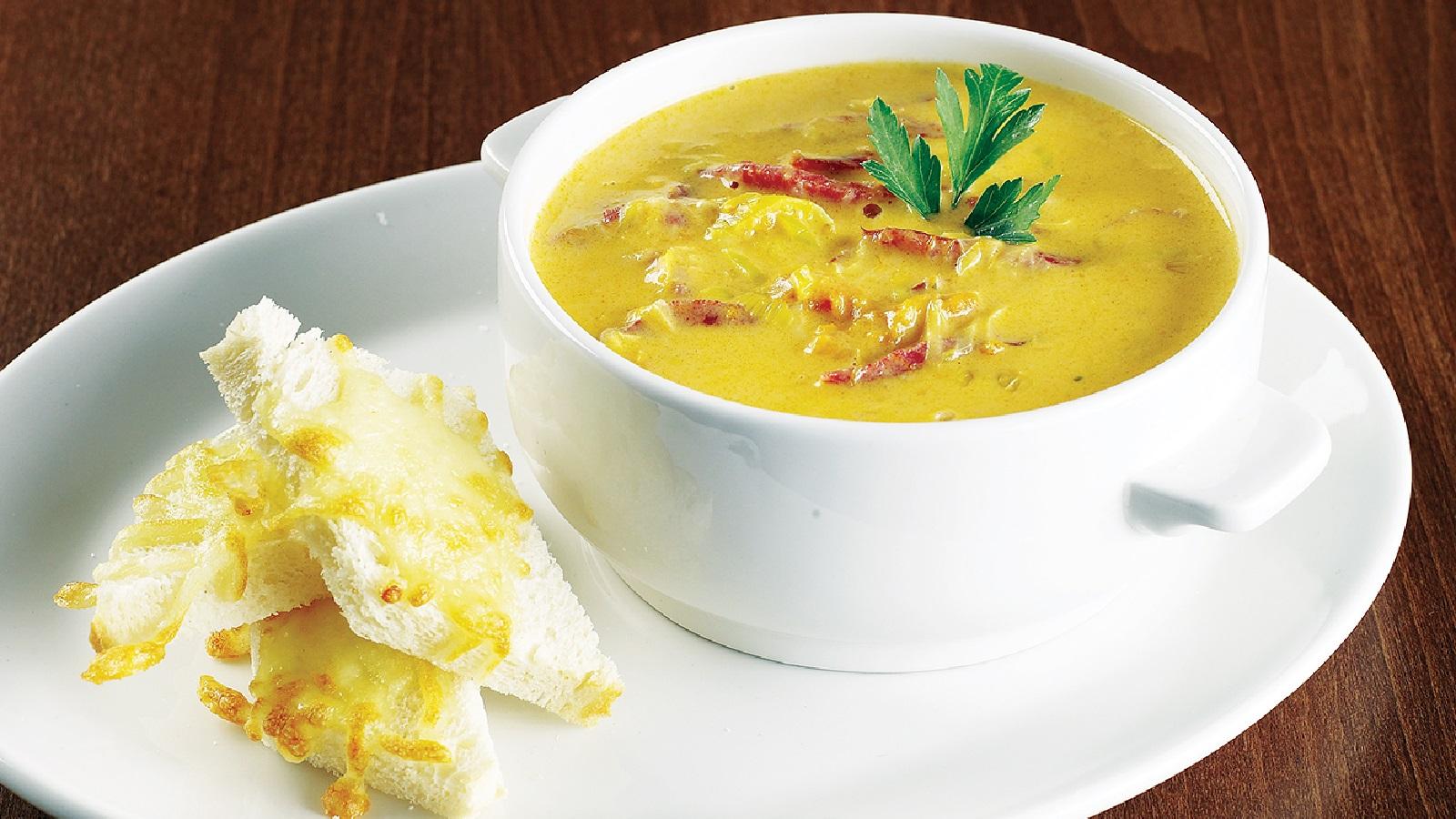 Суп-пюре из тыквы с плавленным сыром - 8 пошаговых фото в ...