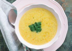 Крем-суп из форели со сливками
