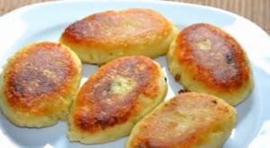 Котлеты из картофельного пюре на сковороде без начинки