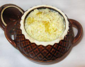 Рисовая каша с тыквой в горшочке