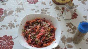 Салат с семенами тыквы
