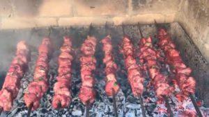 Шашлык на гранатовом соке из свинины