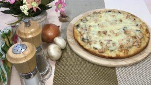 Пицца Жульен с насыщенным грибным ароматом