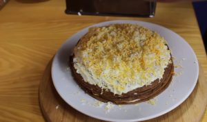 Печеночный торт из куриной печени со сметаной: простой рецепт вкусной закуски