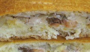 Пирог из свежей горбуши и дрожжевого теста