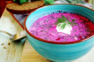Холодный свекольник на кефире: классический рецепт с фото