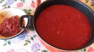 Кетчуп из помидоров и слив на зиму